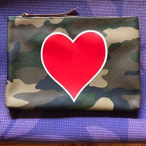 Banana Republic Leather Camouflage Clutch.
